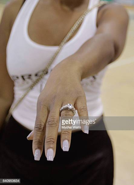Engagement Ring presented to Danielle Koping by Dwyane Wade Sr at the Propops Foundation Fathers Day Weekend on June 18 2016 in Miami Florida