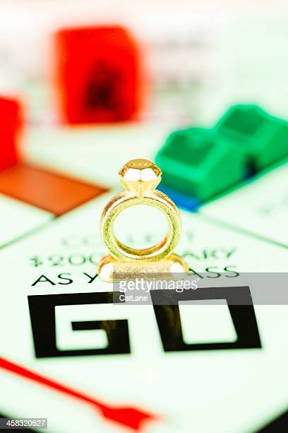 Engagement Ring Token on Monopoly Board