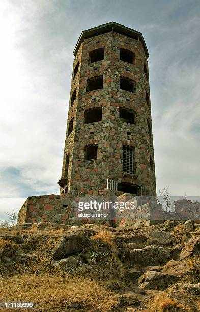 enger tower at dusk - duluth minnesota stock pictures, royalty-free photos & images