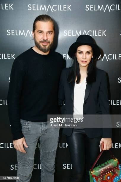 Engin Altan Duzyatan and Neslisah Duzyatan Selma Cilek show as part of the Paris Fashion Week Womenswear Fall/Winter 2017/2018 on March 4 2017 in...