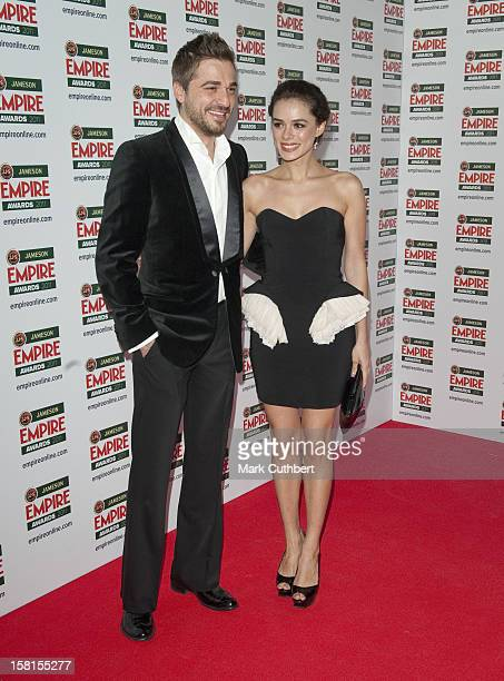 Engin Altan Duzyatan And Ozge Ozpirincci Arrives At The Empire Film Awards At The Grosvenor House Hotel In London