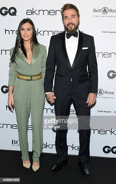 Engin Altan Duzyatan attends the GQ Turkey Men of the Year awards at Four Season Bosphorus Hotel on November 12 2014 in Istanbul Turkey