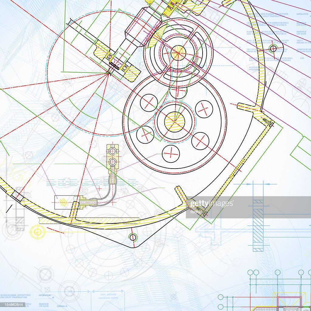 Engine blueprintcolorful industry document paperwork stock photo engine blueprint colorful industry document paperwork stock photo malvernweather Gallery