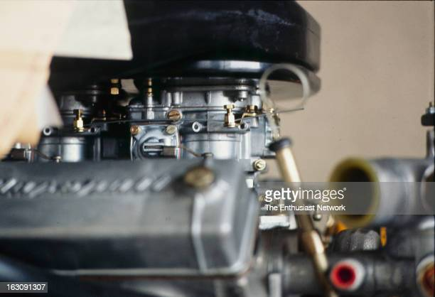 Engine detail of the V8 power plant that will go into mid engine car.