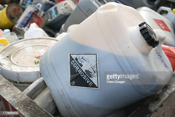 engine oil? at a waste collection facility - toxic waste stock pictures, royalty-free photos & images