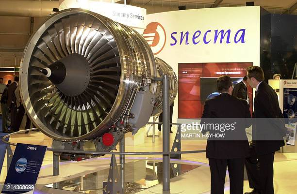 A CFM565 engine on display at the SNECMA stand 27 July 2000 at Farnborough International Air Show The engine has been designed to fit all the airbus...