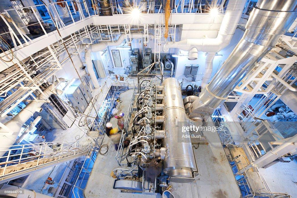 Engine room of container ship, GoSeong-gun, South Korea : Stock-Foto