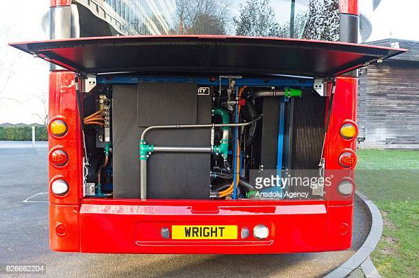 Engine view of the world's first hydrogen double decker bus ahead of the International Zero Emission Bus Conference and Summit in November 30 2016 in...