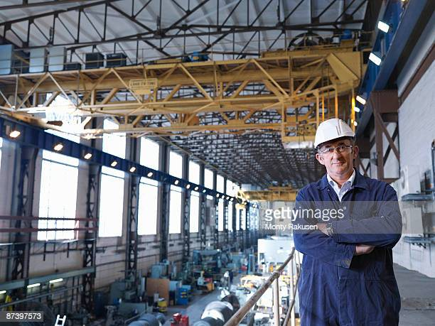 engineer above turbine hall - one mature man only stock photos and pictures