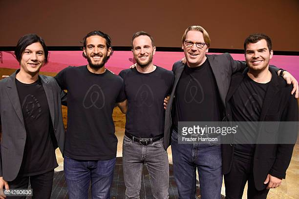 Engineer Airbnb Alex Blackstock Fares Nimri CoFounder Chief Product Officer Airbnb Joe Gebbia Cameron Sinclair and Engineer Airbnb Andrew Vilcsak...