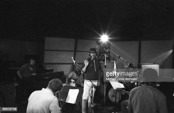 Engineer and prodducer Tom Dowd gives the band instructions during a Wilson Pickett recording session at the Muscle Shoals Sound Studio on November...