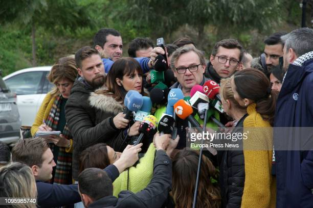 Engineer Angel Garcia in charge of the rescue operation talks to the press about the building of a vertical tunnel to reach toddler Julen Rosello who...