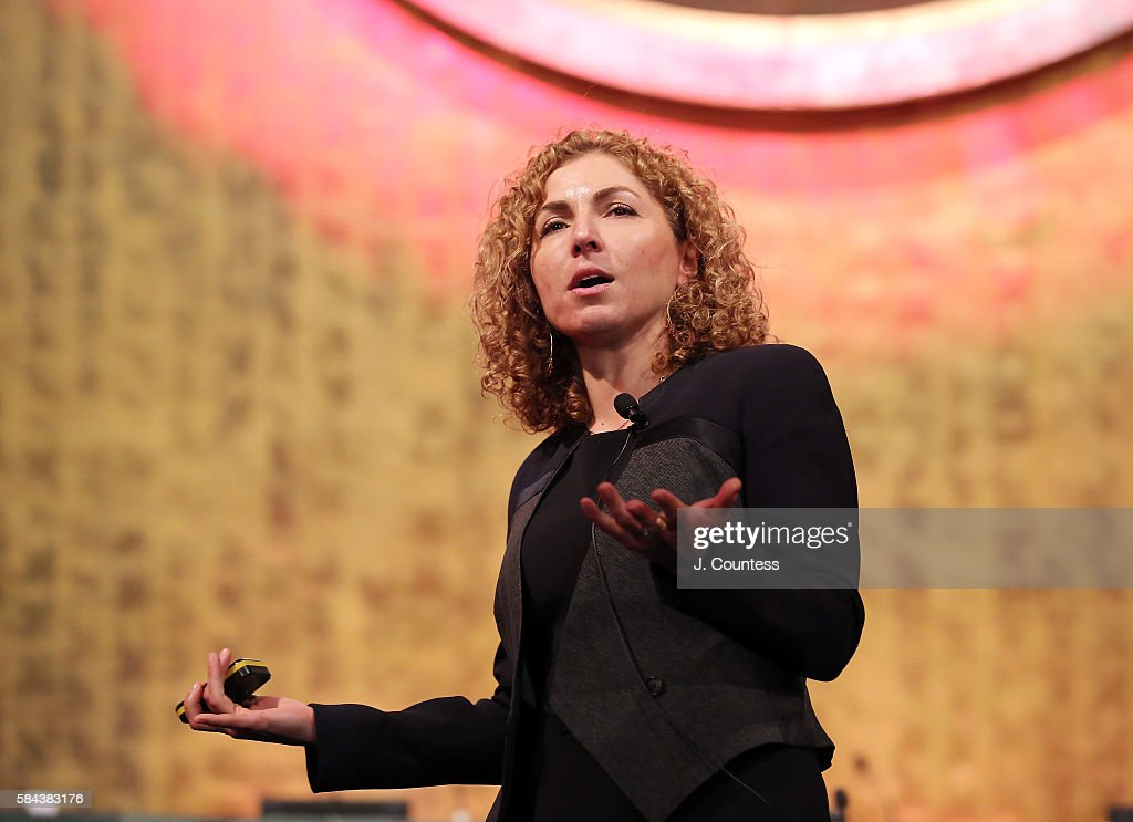 Engineer Anousheh Ansari speaks at the Novus Summit at the United Nations on July 17, 2016 in New York City.