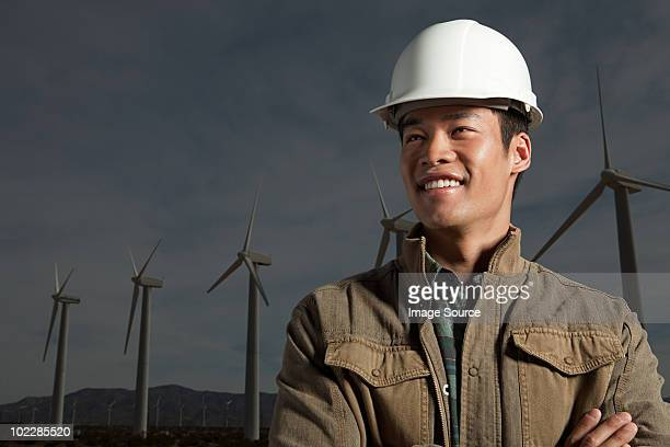 Engineer at a wind farm