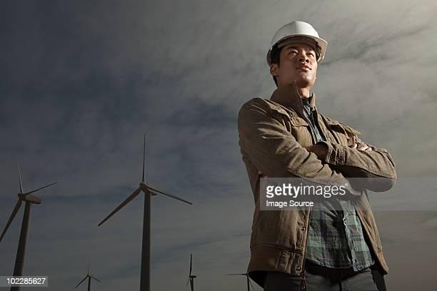 Ingenieur bei wind farm