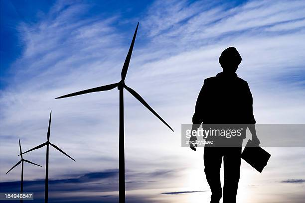 Engineer at a Wind Turbine