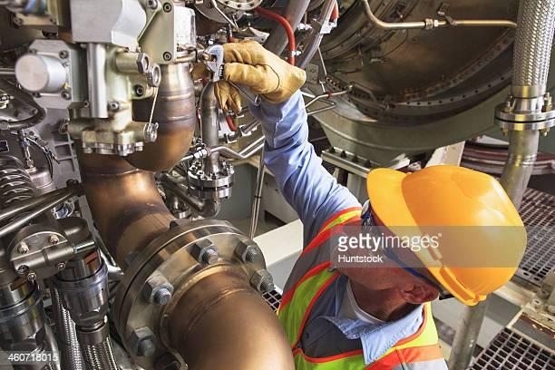 Ingenieur bei turbine Phase gas turbine die Fahrten