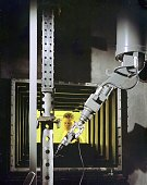 Engineer dan gardner operates manipulator arm at the hot cells at picture id1148840571?s=170x170