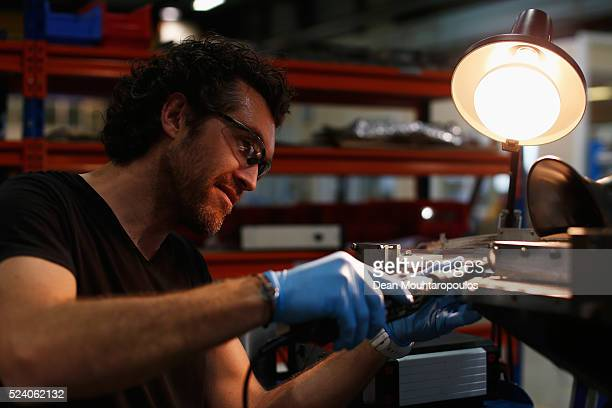 Engineer Gregory Maury works on a Instrumentation superconducting coil in New Technologies for Future Magnets Building 927 at The European...