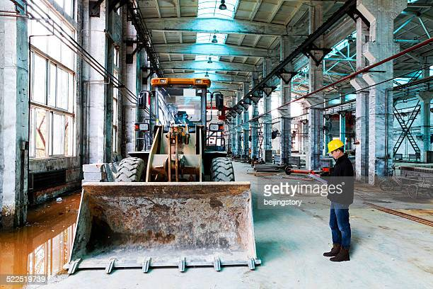 Engineer in contruction site