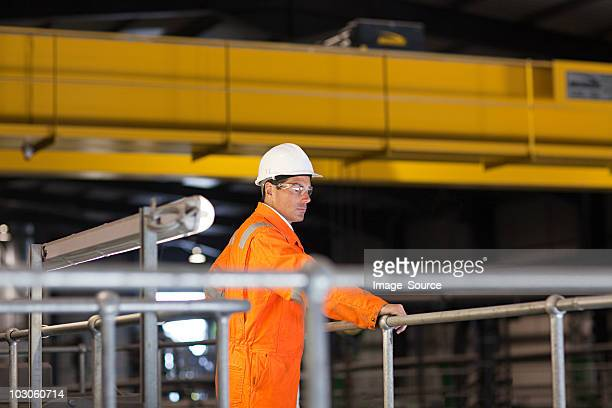 engineer in factory - railings stock pictures, royalty-free photos & images