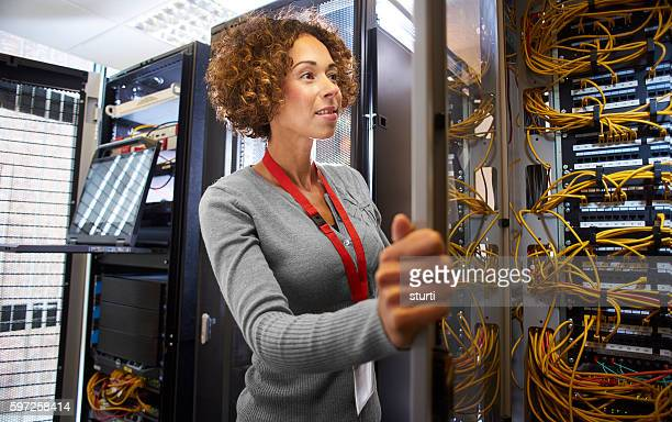 IT engineer in the server room
