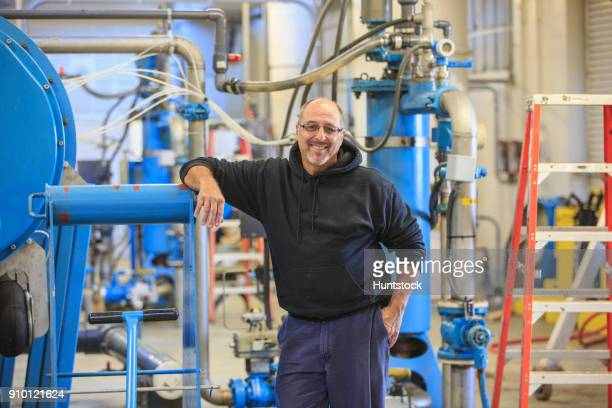 Engineer in water treatment plant