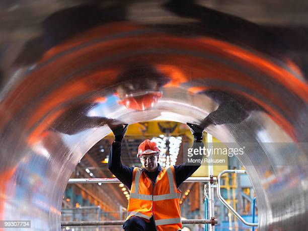 Engineer Inspecting Forged Steel