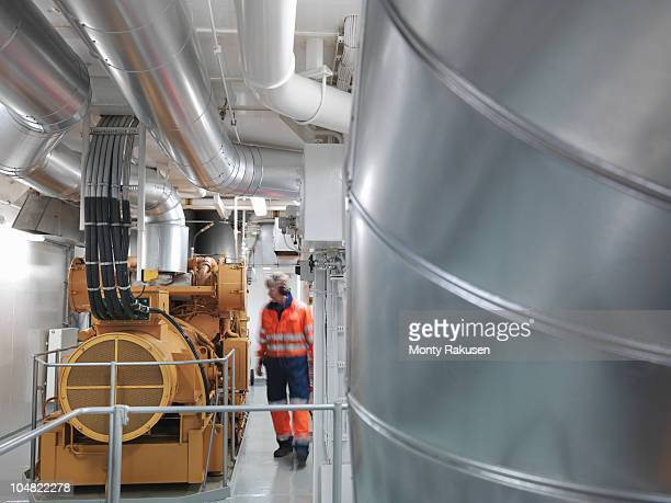 Engineer inspects Generator