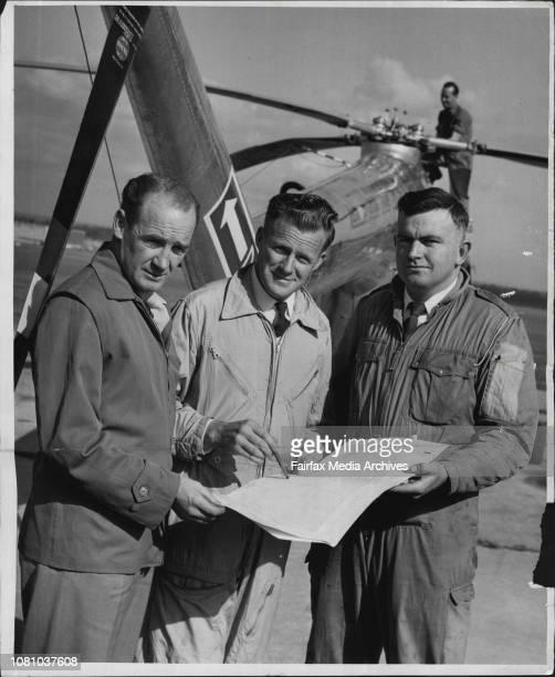 LR Engineer Les Taylor Capt Max Holyman and copilot Jim Ferguson June 16 1957