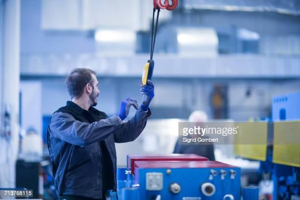 Engineer operating heavy machinery