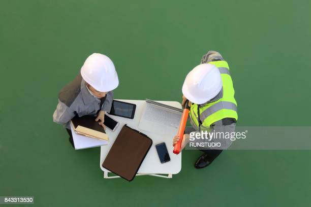 engineer or architect meeting for architectural project