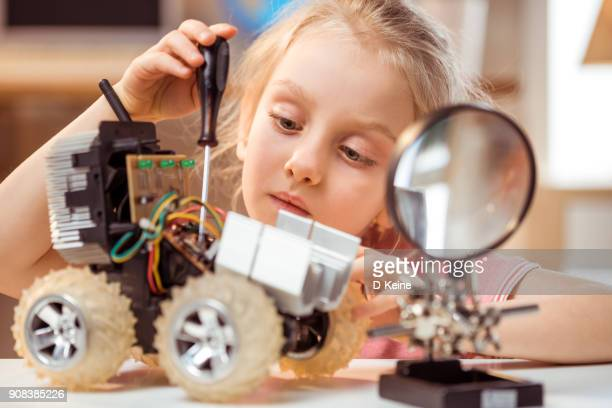 engineer - young tiny girls stock photos and pictures