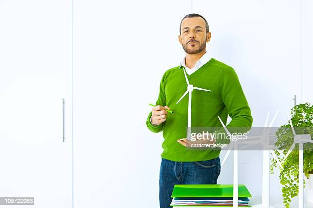 engineer planning a green future - ecologist stock pictures, royalty-free photos & images