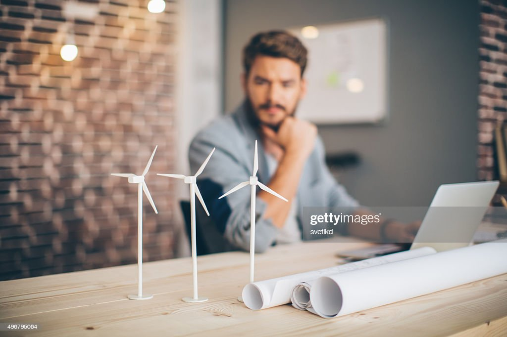 Engineer projecting. : Stock Photo
