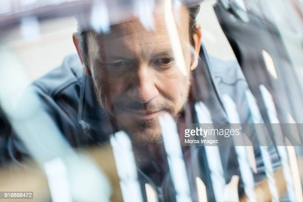engineer seen through car windshield in industry - engineering stock pictures, royalty-free photos & images