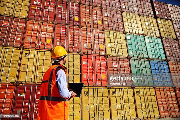 Engineer Stack of Cargo Containers