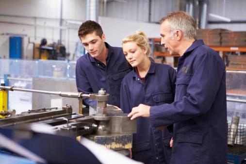 Engineer teaching about tube bending machine 459434829