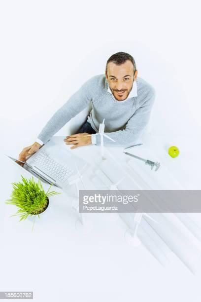 Ingenieur denken grünen