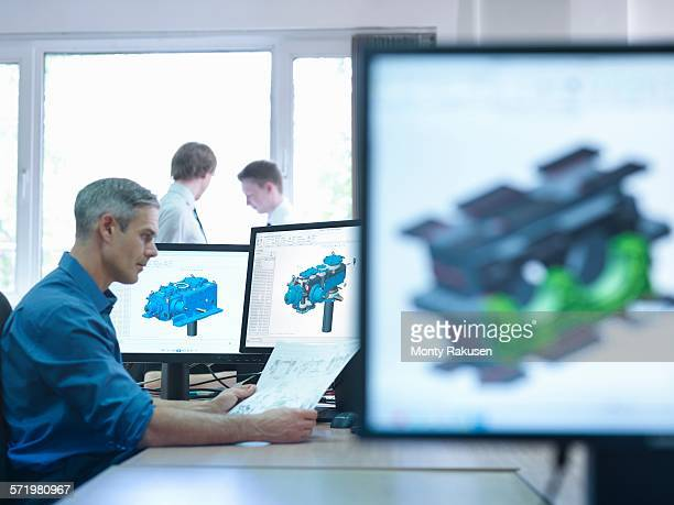 Engineer using computer aided design (CAD)