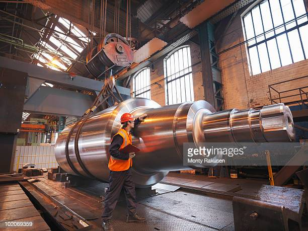Engineer With Finished Steel Product