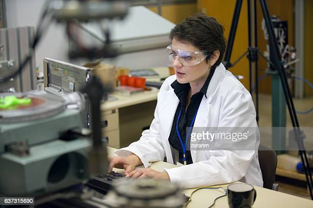 Engineer working in lab