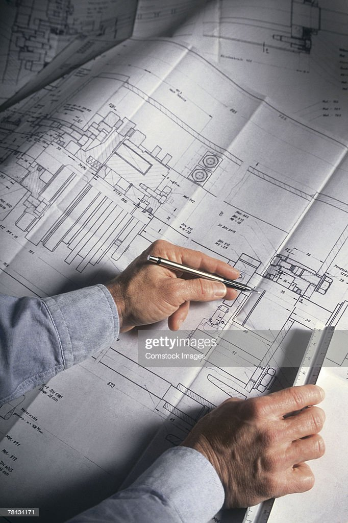 Engineering blueprints : Stockfoto