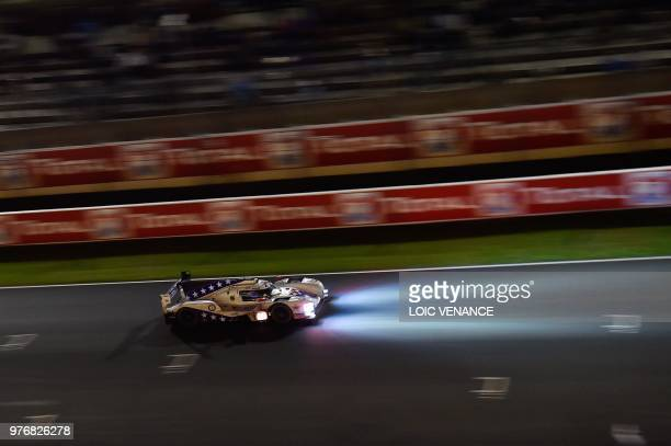 BR Engineering BR1 Gibson LM P1 British driver Ben Hanley competes during the 86th Le Mans 24hours endurance race at the Circuit de la Sarthe at...