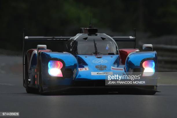 Engineering BR1 Russia's driver Matevos Isaakyan competes during the qualifying practice session of the 86th edition of the 24 Hours of Le Mans...