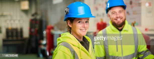engineering colleagues portrait - construction industry stock pictures, royalty-free photos & images