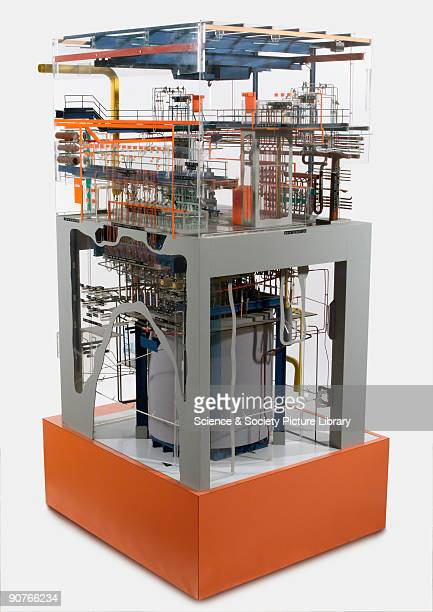 Engineering model of one of the highly active fission product waste storage tanks at Windscale in Cumbria