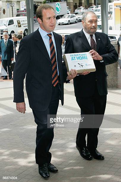 Engineering Printing and Manufacturing Union National Secretary Andrew Little and Aviation and Marine Engineers Association National Secretary George...