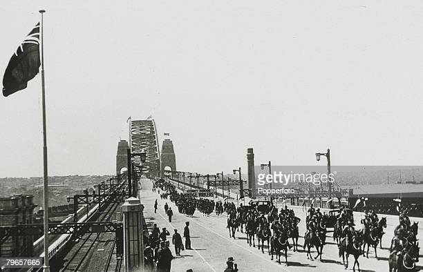 19th March 1932 The Sydney Harbour Bridge showing the parade pictured at the opening ceremony