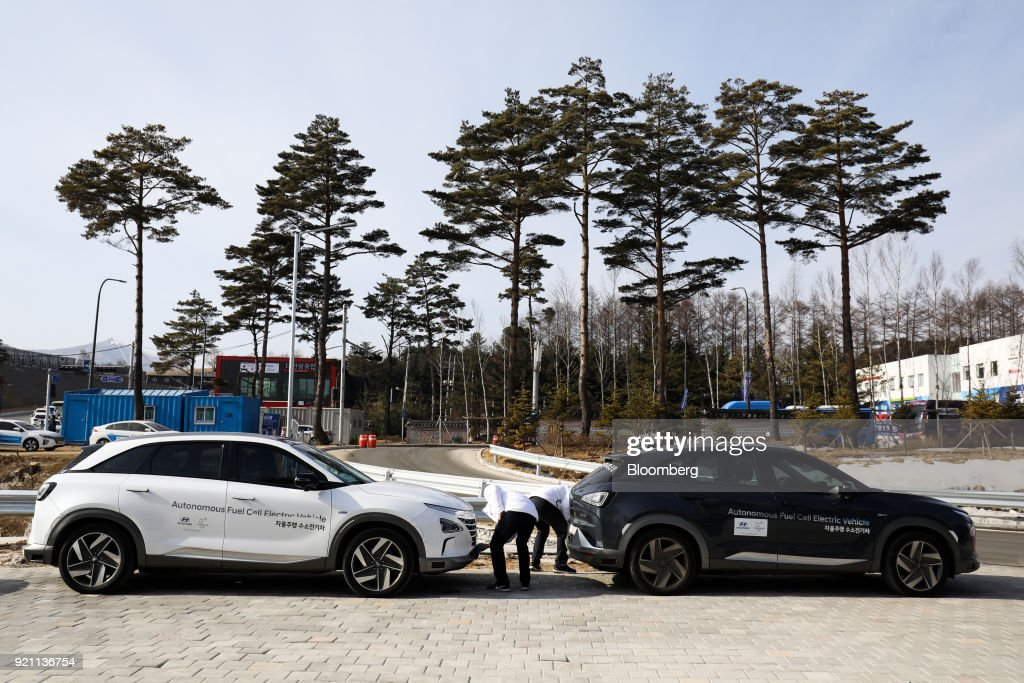 Test Driving Hyundai Motor Co.'s Autonomous Nexo Vehicle : News Photo